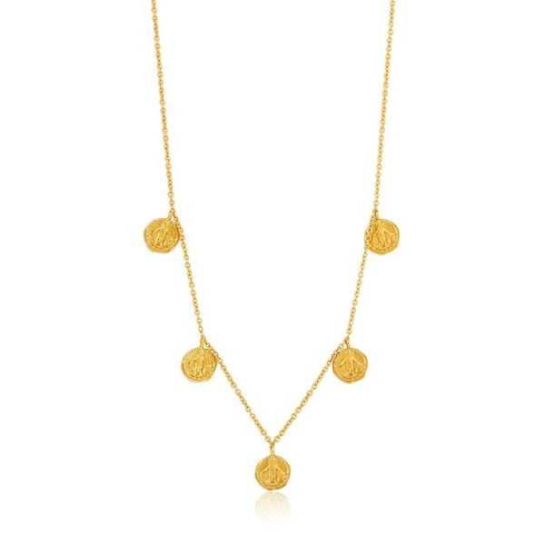 Ania Haie COINS DEUS NECKLACE in 925 Sterling Silver with 14kt Gold Plating Taylors Jewellers Alliston, ON