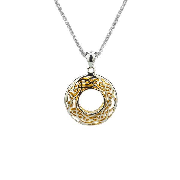WINDOW TO THE SOUL IN STERLING SILVER & 22KT YELLOW GOLD GILDED SMALL PENDANT Taylors Jewellers Alliston, ON