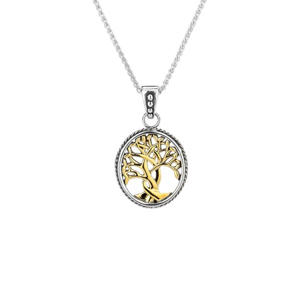 TREE OF LIFE IN STERLING SILVER & 10KT YELLOW GOLD SMALL PENDANT Taylors Jewellers Alliston, ON