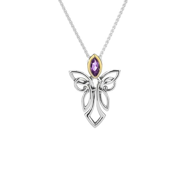 KEITH JACK ANGEL PENDANT WITH  PURPLE  AMETHYST  STERLING SILVER  & 10KT WHITE GOLD Taylors Jewellers Alliston, ON