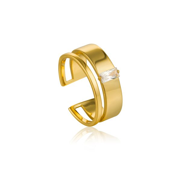 Ania Haie GLOW GETTER GLOW ADJUSTABLE RING in 925 Sterling Silver with 14kt Gold Plating Taylor's Jewellers Alliston, ON