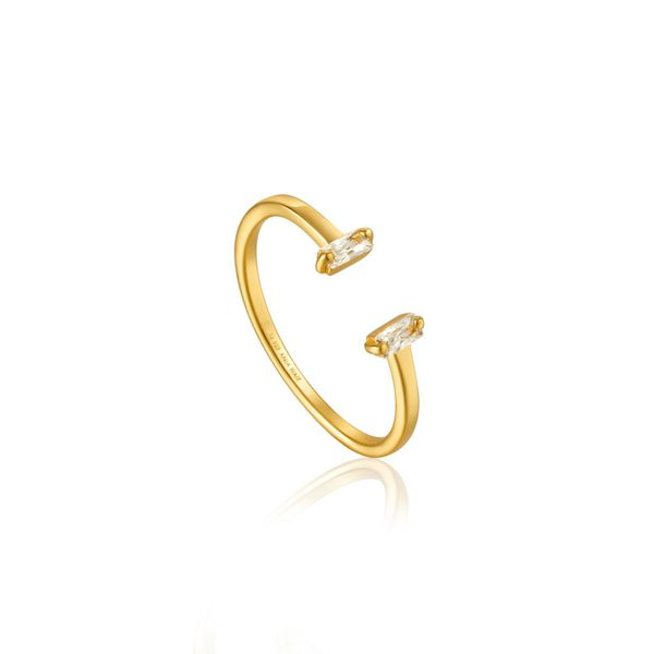 Ania Haie GLOW GETTER ADJUSTABLE RING  in 925 Sterling Silver with 14kt Gold Plating Taylor's Jewellers Alliston, ON