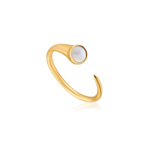 Anie Haie HIDDEN GEM MOTHER OF PEARL CLAW RING in 925 Sterling Silver with 14kt Gold Plating Taylor's Jewellers Alliston, ON