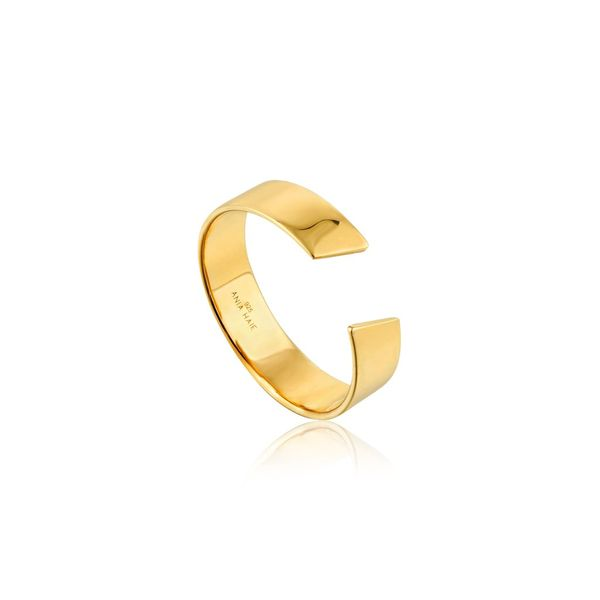 Ania Haie Geometry Class Geometry Wide Adjustable Ring in 925 Sterling Silver with 14kt Gold Plating Taylors Jewellers Alliston, ON