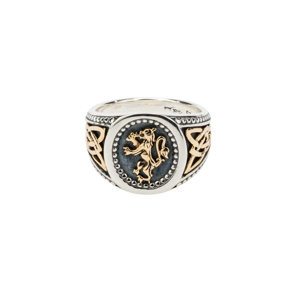 LION RAMPANT STERLING SILVER & 10KT YELLOW GOLD LARGE RING Taylors Jewellers Alliston, ON