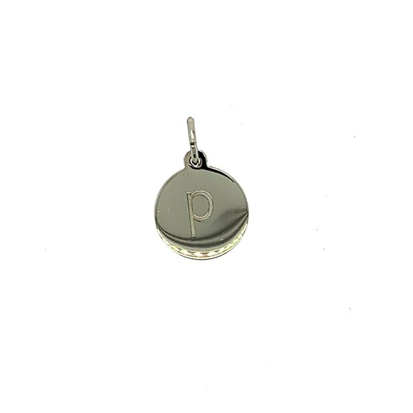 Petite Initial Lower Case Block P in Sterling Silver Taylors Jewellers Alliston, ON