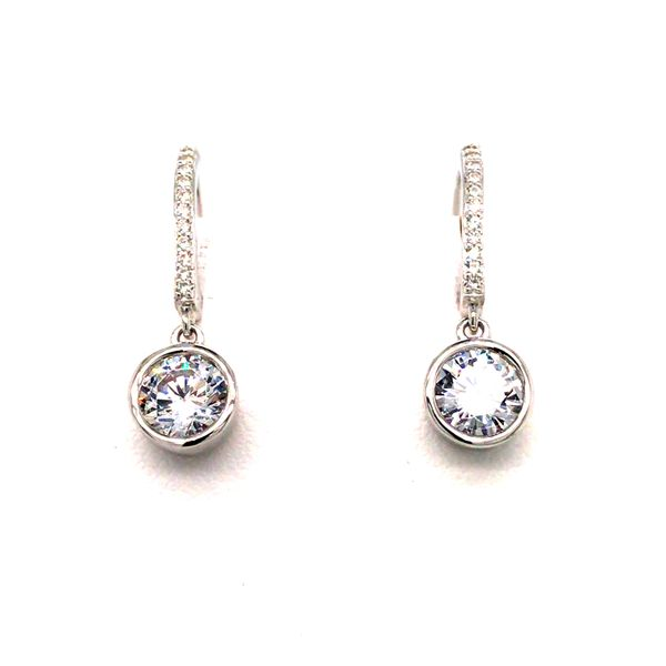 ELLE R2LCDS006G 6MM ROUND BEZEL SET CZ STERLING SILVER EARRINGS Taylors Jewellers Alliston, ON