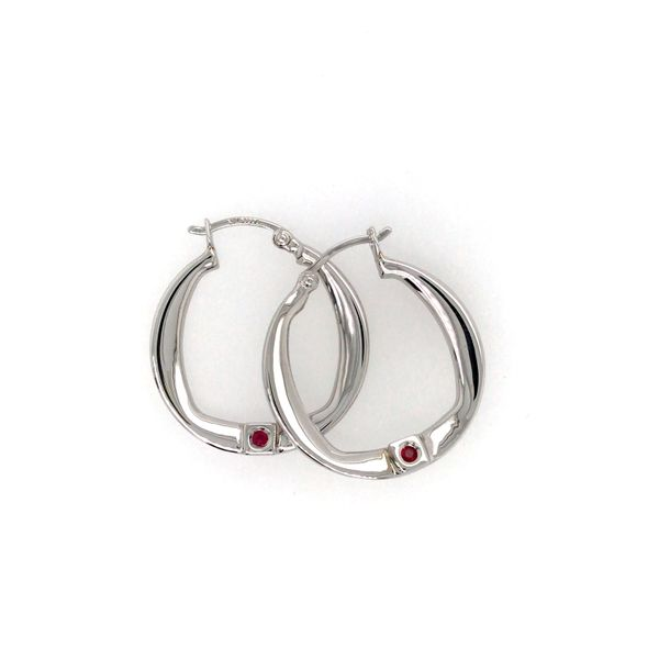 ELLE NEW FORM 27MM STERLING SILVER HOOP EARRINGS Taylors Jewellers Alliston, ON