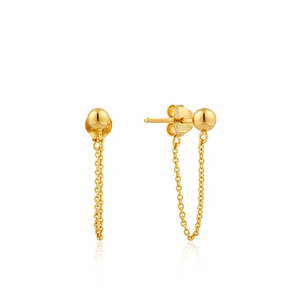 Anie Haie Modern Minimalism Chain Stud Earrings in 925 Sterling Silver with 14kt Gold Plating Taylor's Jewellers Alliston, ON