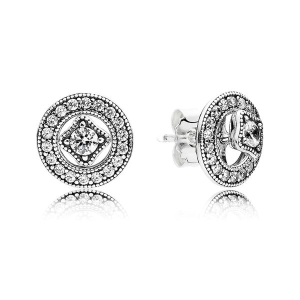 PANDORA 290721CZ VINTAGE CIRCLES EARRINGS Taylors Jewellers Alliston, ON