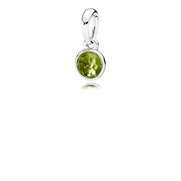 PANDORA 390396PE DROPLET PERIDOT PENDANT Taylors Jewellers Alliston, ON