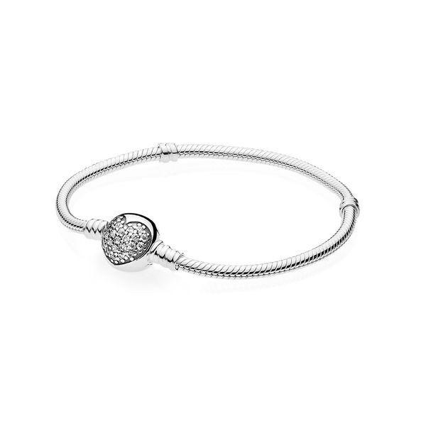 Bracelet with Sparkling Cubic Zirconia Heart Clasp Taylors Jewellers Alliston, ON