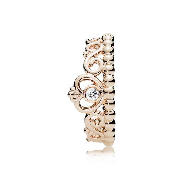 PANDORA Rose 180880CZ-54 Princess Tiara Crown Ring Size 7 Taylor's Jewellers Alliston, ON