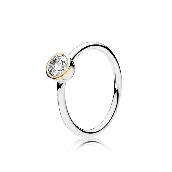 PANDORA 191043CZ-50 PETITE CIRCLE STERLING SILVER, CLEAR CZ SIZE 5 Taylors Jewellers Alliston, ON