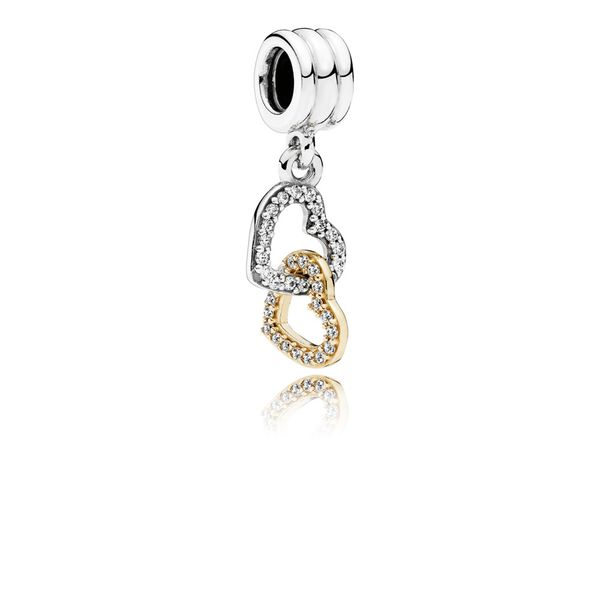 PANDORA 792068CZ Interlocked Hearts Charm Taylors Jewellers Alliston, ON