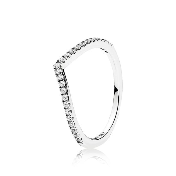 PANDORA 196316CZ-48 Sparkling Wishbone Ring Size 4.5 Taylors Jewellers Alliston, ON