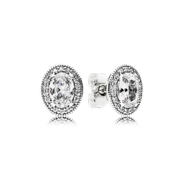 Oval Sparkle Halo Stud Earrings Taylor's Jewellers Alliston, ON