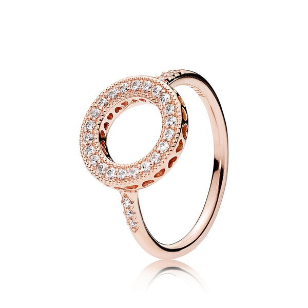 PANDORA 181039CZ-52 ROSE WITH CLEAR CZ AND MILGRAIN DETAILS RING SIZE 6 Taylors Jewellers Alliston, ON