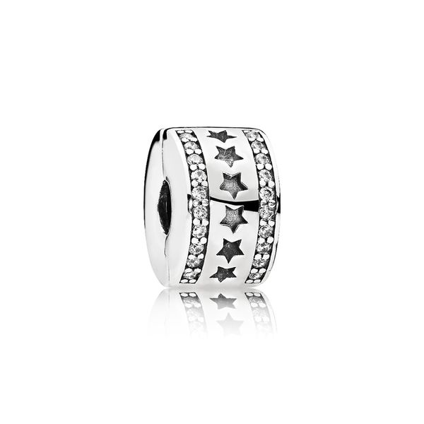 PANDORA 796381CZ ROW OF STARS CLIP CHARM Taylors Jewellers Alliston, ON