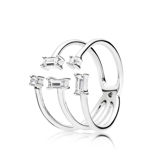 PANDORA 197527CZ-54 OPEN ICE CUBE STERLING SILVER WITH CZ RING SIZE 7 Taylors Jewellers Alliston, ON