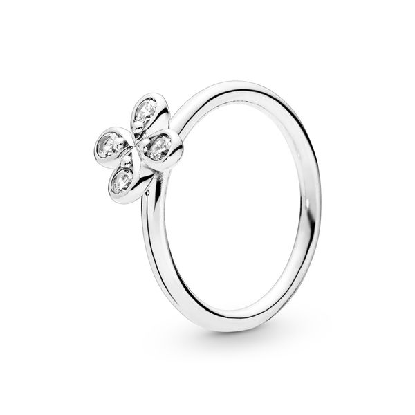 PANDORA 197967CZ-52 FLOWER CZ STERLING SILVER RING SIZE 6 Taylors Jewellers Alliston, ON