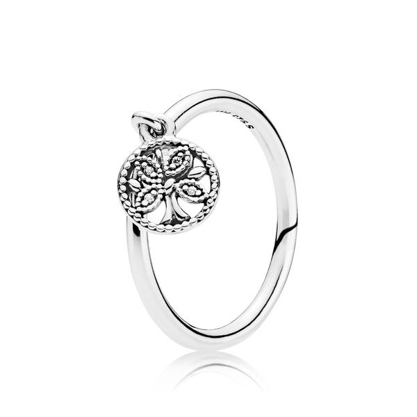 PANDORA 197782CZ-58 Dangling Family Tree Ring Size 8.5 Taylor's Jewellers Alliston, ON