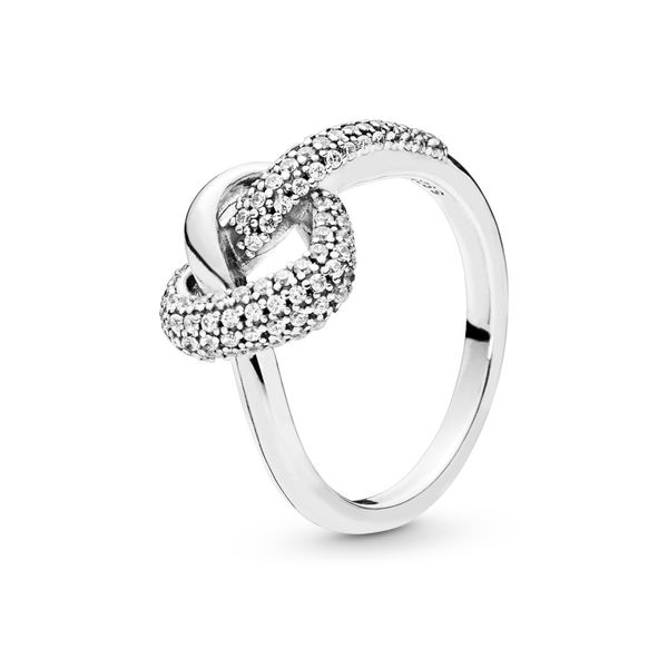 PANDORA Knotted Heart Clear CZ Ring Size 7 Taylor's Jewellers Alliston, ON