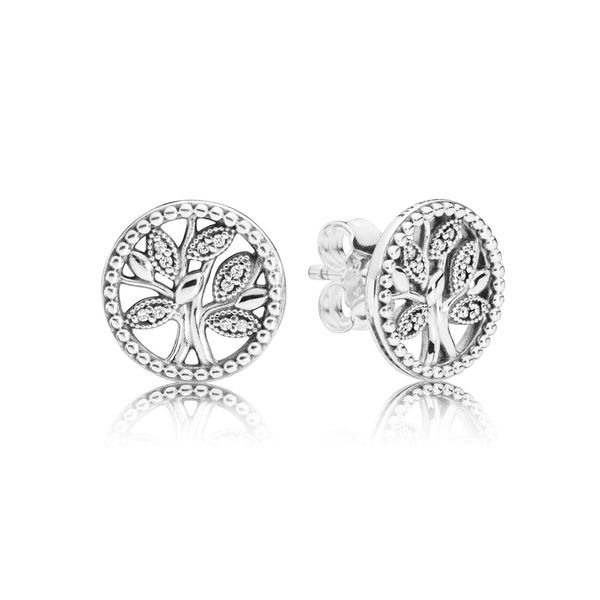 PANDORA 297843CZ Trees of Life Earrings Taylors Jewellers Alliston, ON