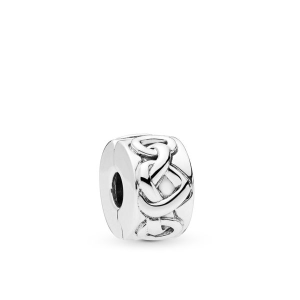 PANDORA 798035 KNOTTED HEARTS CLIP CHARM Taylors Jewellers Alliston, ON