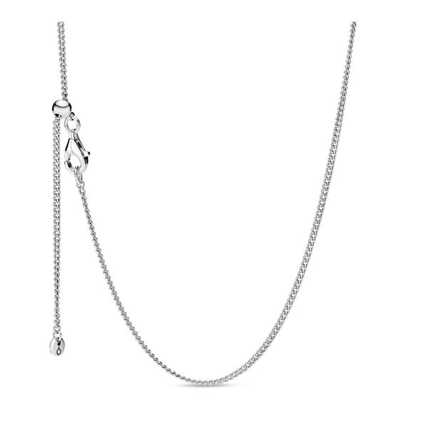 PANDORA 398283-60 STERLING SILVER CHAIN WITH SLIDING CLASP SIZE 23.6