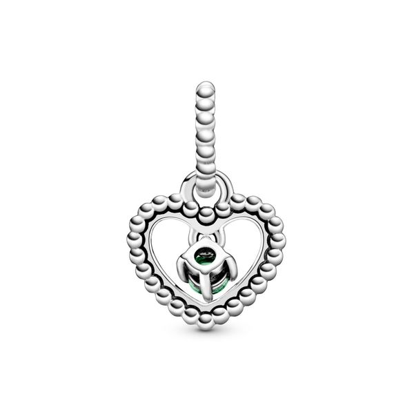 PANDORA 798854C10 SPRING GREEN CRYSTAL HEART CHARM Taylors Jewellers Alliston, ON