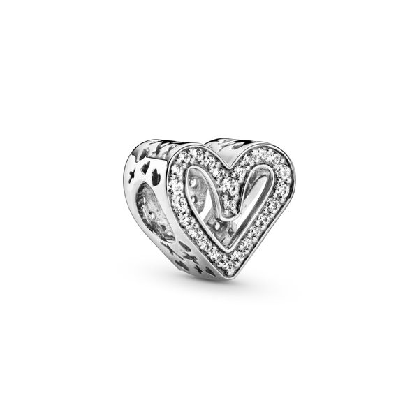 PANDORA 798692C01 SPARKLING FREEHAND HEART CHARM Taylors Jewellers Alliston, ON