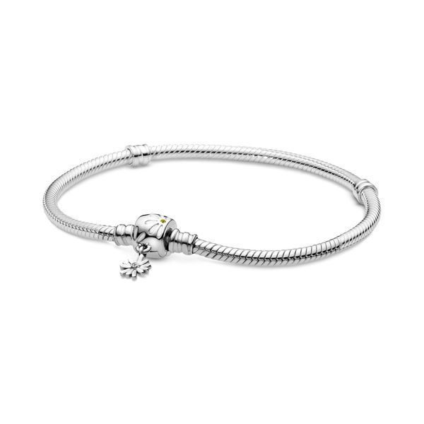 Sterling Silver Bracelet With Daisy Flower With Crystals And Enamel Taylor's Jewellers Alliston, ON