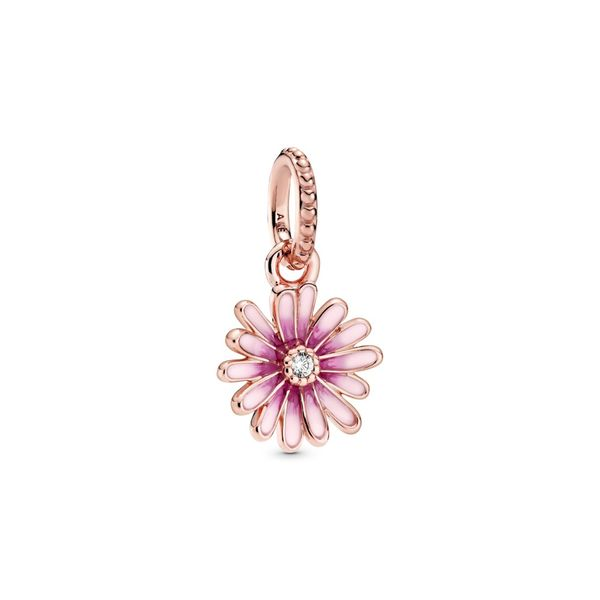 PANDORA ROSE 788771C01 Pink Daisy Flower Charm Taylors Jewellers Alliston, ON