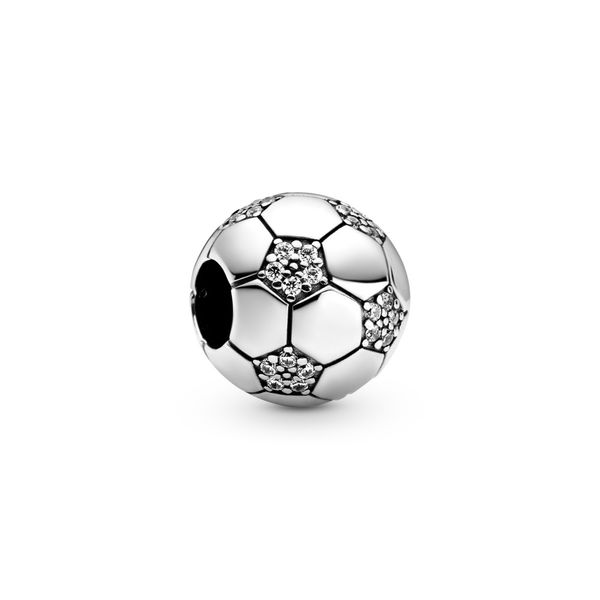PANDORA 798795C01 SPARKLING SOCCER CHARM Taylors Jewellers Alliston, ON
