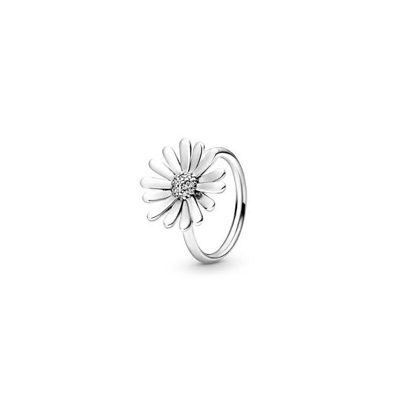 PANDORA 198817C01-54 DAISY WITH CZ STERLING SILVER RING SIZE 7 Taylors Jewellers Alliston, ON