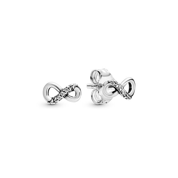 PANDORA 298820C01 SPARKLING INFINITY EARRINGS Taylors Jewellers Alliston, ON