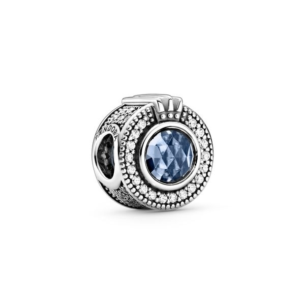 PANDORA 799058C01 SPARKLING BLUE CROWN O CHARM Taylors Jewellers Alliston, ON