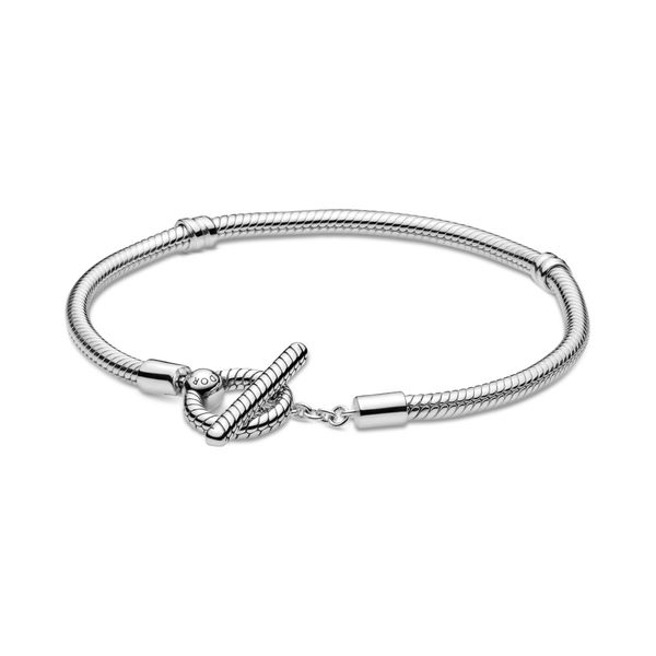 Pandora Moments T-Bar Snake Chain Bracelet Taylors Jewellers Alliston, ON