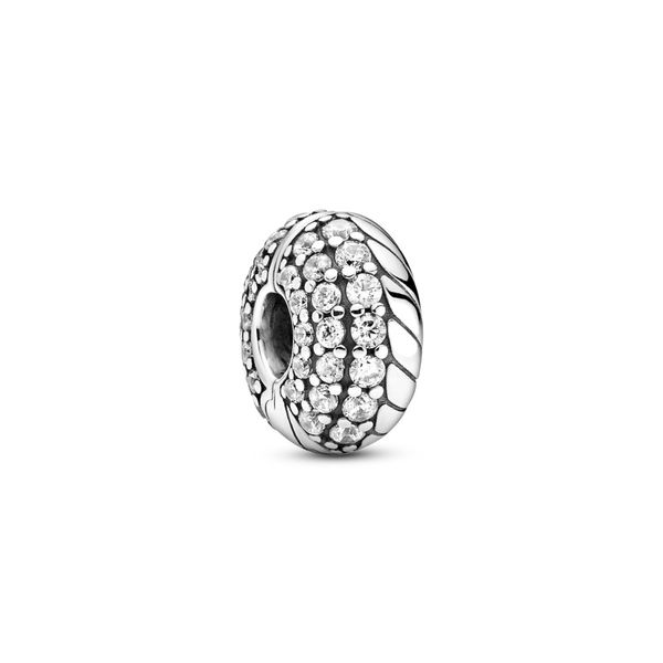 PANDORA 799089C01 PAVÉ SNAKE CHAIN PATTERN CLIP CHARM Taylors Jewellers Alliston, ON