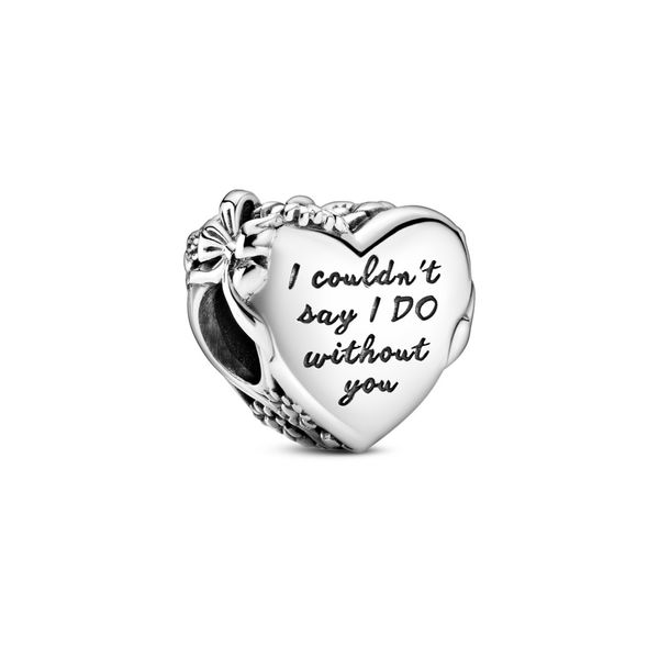 PANDORA 799146C00 FLOWER AND BOW HEART STERLING SILVER CHARM Taylors Jewellers Alliston, ON