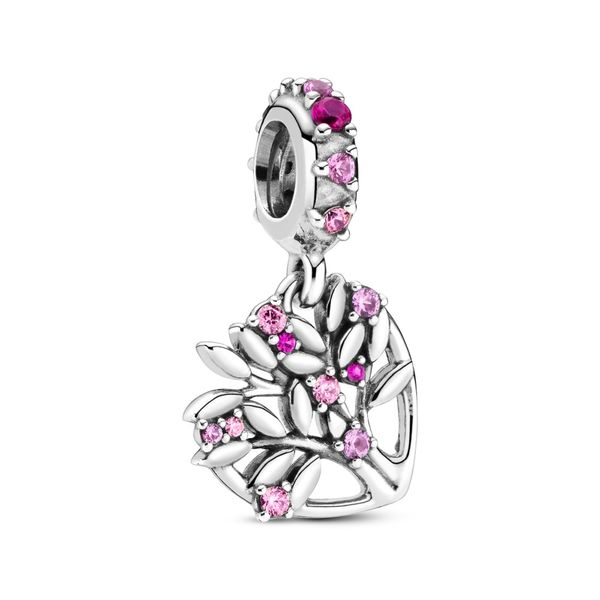 PANDORA 799153C01  STERLING SILVER PINK HEART FAMILY TREE Taylors Jewellers Alliston, ON