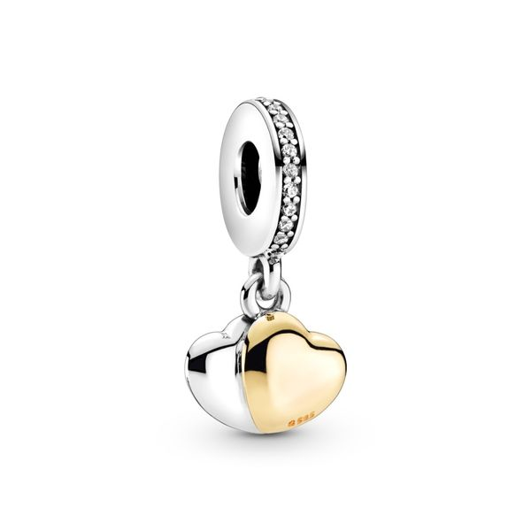 PANDORA 799162C01  DOUBLE HEART STERLING SILVER WITH 14K GOLD Taylors Jewellers Alliston, ON