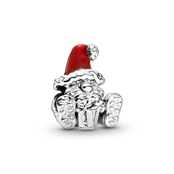 PANDORA 799213C01 SANTA CLAUS AND PRESENT STERLING SILVER CHARM Taylors Jewellers Alliston, ON