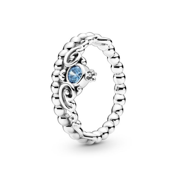 PANDORA 199191C01-56 DISNEY CINDERELLA BLUE TIARA RING SIZE 7.5 Taylors Jewellers Alliston, ON