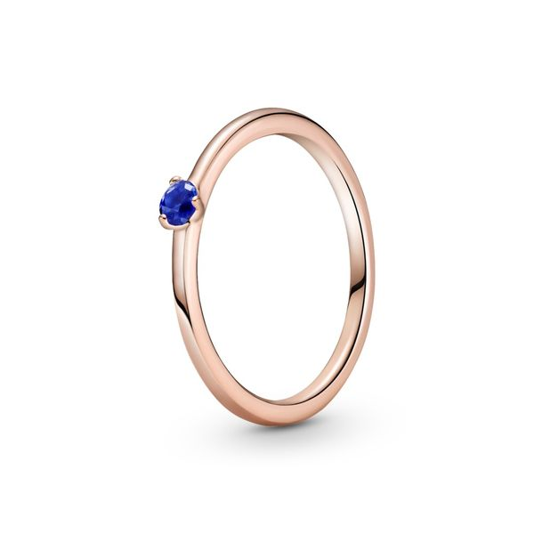 PANDORA ROSE 189259C04-54 ring with stellar blue crystal Size 7 Taylors Jewellers Alliston, ON