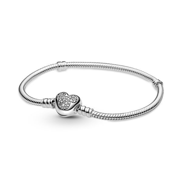 PANDORA 599299C01-18 DISNEY SNAKE CHAIN STERLING SILVER BRACELET SIZE 7.1 Taylors Jewellers Alliston, ON