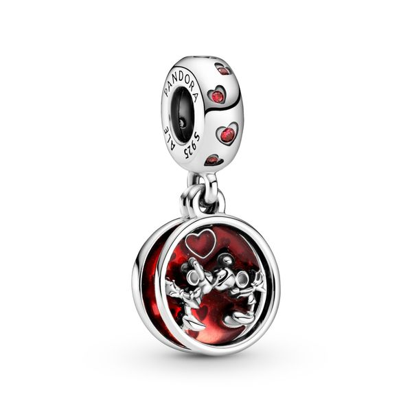 PANDORA 799298C01 DISNEY MICKEY AND MINNIE STERLING SILVER DANGLE Taylors Jewellers Alliston, ON