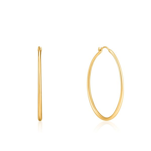 Ania Haie Luxe Minimalism Hoop Earrings in 925 Sterling Silver with 14kt Gold Plating Taylor's Jewellers Alliston, ON