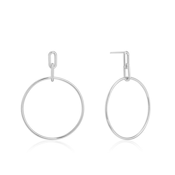 Ania Haie Chain Reaction Cable Link Hoop Earrings in 925 Silver Taylors Jewellers Alliston, ON
